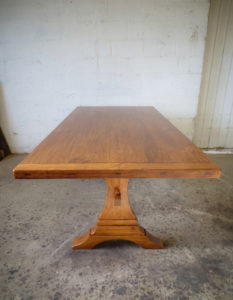 CarolinaFarmTable-01-Trestle-Table-Pine-Hand-Planed-NCMountainArtsAdventure